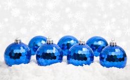 bożych narodzeń ornamentów śnieg Zdjęcia Stock