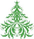 bożych narodzeń ornamental drzewo ilustracja wektor