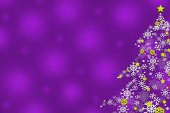 bożych narodzeń płatka śniegu drzewo royalty ilustracja