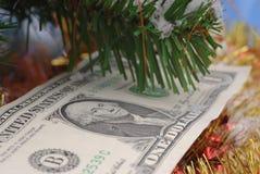 bożych narodzeń pieniądze drzewo Zdjęcie Royalty Free