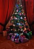 bożych narodzeń prezentów ilustracyjny drzewa wektor Obraz Stock