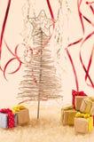 bożych narodzeń prezentów ilustracyjny drzewa wektor Obrazy Royalty Free
