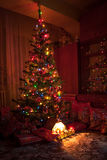 bożych narodzeń prezentów ilustracyjny drzewa wektor Fotografia Stock