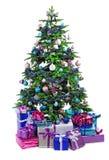 bożych narodzeń prezentów ilustracyjny drzewa wektor Zdjęcie Royalty Free
