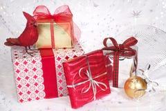 bożych narodzeń prezentów ornamenty Zdjęcia Royalty Free