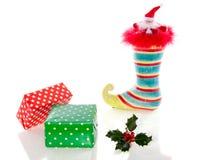 bożych narodzeń prezentów zielona czerwień Fotografia Royalty Free