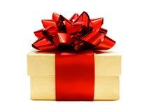 bożych narodzeń prezenta złota czerwień Obraz Royalty Free