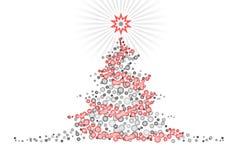bożych narodzeń projekta illustartion stylizowany drzewo royalty ilustracja