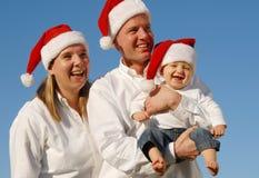 bożych narodzeń rodziny portret Obraz Stock