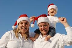 bożych narodzeń rodziny portret Zdjęcia Stock