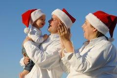 bożych narodzeń rodziny portret Zdjęcie Stock