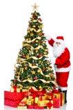 bożych narodzeń Santa drzewo Zdjęcie Stock