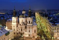 bożych narodzeń stary Prague czas miasteczko Fotografia Stock