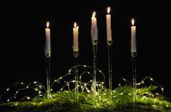 Bożych Narodzeń wciąż życie z świeczkami zdjęcia royalty free