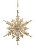 bożych narodzeń złocisty ornamentu snowlfake Zdjęcie Royalty Free