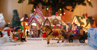 bożych narodzeń zabawek wioska Fotografia Stock