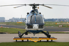 Bo-105 Police Helicopter. Front view on a Bo-105 Police Helicopter Royalty Free Stock Photo