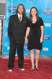 Bo Bice. And wife Caroline  at the American Idol 2008 Grand Finale. Nokia Theatre, Hollwyood, CA. 05-21-08 Royalty Free Stock Photos