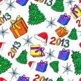 Boże Narodzenia bezszwowi i Nowy Rok Obrazy Royalty Free