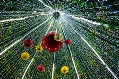 boże narodzenia dekorowali drzewa Zdjęcie Stock