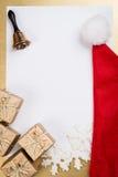 Boże Narodzenia i Nowego Roku kartka z pozdrowieniami Obrazy Stock