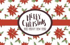 Boże Narodzenia i nowego roku kartka z pozdrowieniami szablon Obrazy Stock