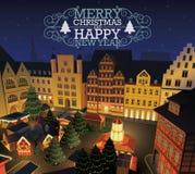 Boże Narodzenia i nowego roku rynek Fotografia Stock