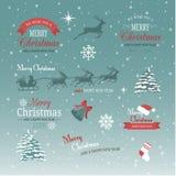 Boże Narodzenia i nowego roku set Zdjęcia Royalty Free