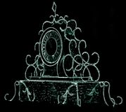 Boże Narodzenia i nowego roku zegar Obraz Royalty Free