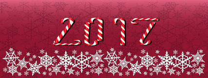 Boże Narodzenia i nowego roku zmrok - czerwony sztandar Zdjęcie Royalty Free