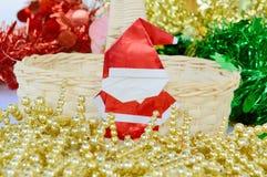 Boże Narodzenia i nowy rok dekoracja, Santa Claus papier Fotografia Stock
