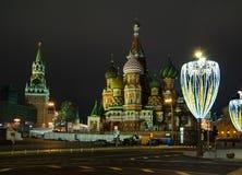 Boże Narodzenia i nowy rok dekoracja w Moskwa Obrazy Stock