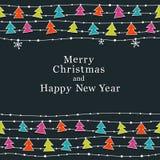 Boże Narodzenia i Nowy Rok karta Obraz Stock