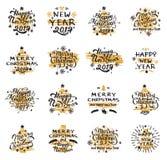 Boże Narodzenia i nowy rok odznaki Fotografia Royalty Free