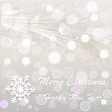 Boże Narodzenia i nowy rok pocztówka Zdjęcie Royalty Free