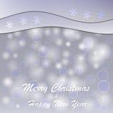 Boże Narodzenia i nowy rok pocztówka Obrazy Stock