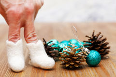 Boże Narodzenia i nowy rok zabawki Obraz Stock