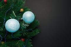 Bo?e Narodzenia lub nowy rok dekoraci t?o obrazy royalty free