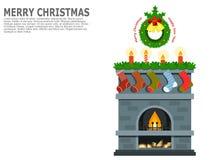 Boże Narodzenia, nowego roku powitania sztuka, karta, plakat lub sztandar, Obrazy Royalty Free