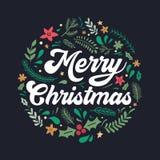 Boże Narodzenia, nowego roku zaproszenie i powitanie karta lub ilustracja wektor