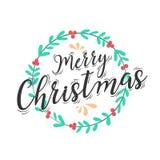 Boże Narodzenia, nowego roku zaproszenie i powitanie karta lub Boże Narodzenia le ilustracja wektor