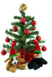 Boże Narodzenia pies i pingwin Zdjęcie Stock