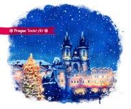 boże narodzenia Prague Zdjęcie Stock