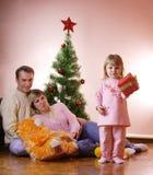 boże narodzenia rodzinni Fotografia Royalty Free