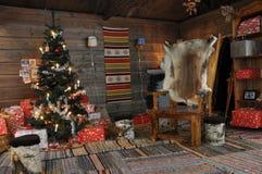 Boże Narodzenia, Santas izbowi Obrazy Royalty Free