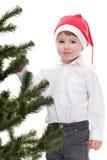 boże narodzenia target1937_0_ kapeluszowego nowego berbecia drzewa rok Zdjęcia Stock