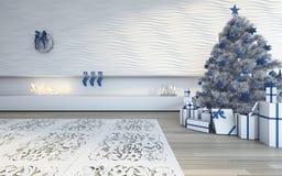 Boże Narodzenia w biel Zdjęcia Stock