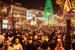 Boże Narodzenia w Madryt Obraz Royalty Free