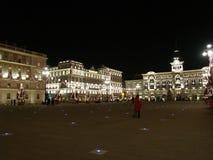 Boże Narodzenia w piazza Unita Obraz Stock