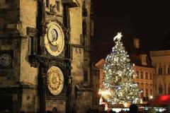Boże Narodzenia w Praga, Stary rynek Obraz Royalty Free